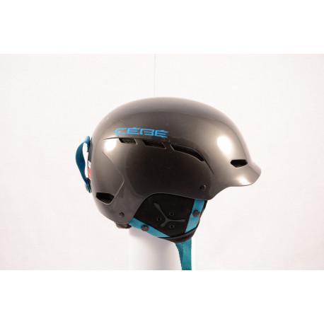 lyžiarska/snowboardová helma CEBE DUSK 2018, GREY/blue, einstellbar