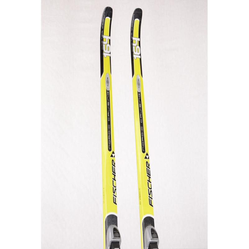 bežecké lyže FISCHER ORBITER CROWN, NORDIC cruising, WIDE body, AIR tec, HIGHTEC light core, carbon + Fischer T3 NNN