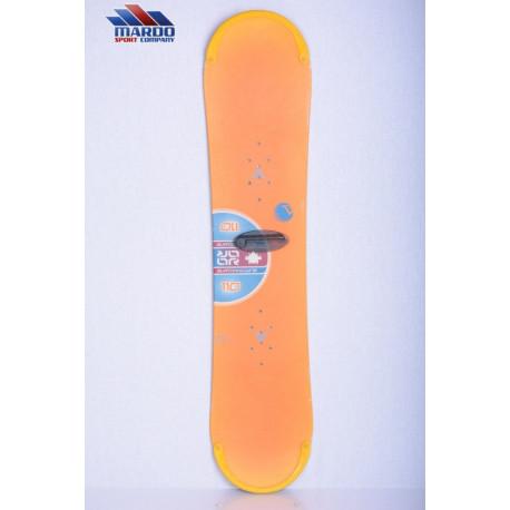 children's/junior snowboard BURTON 13 orange, CAMBER/flat ( TOP condition )