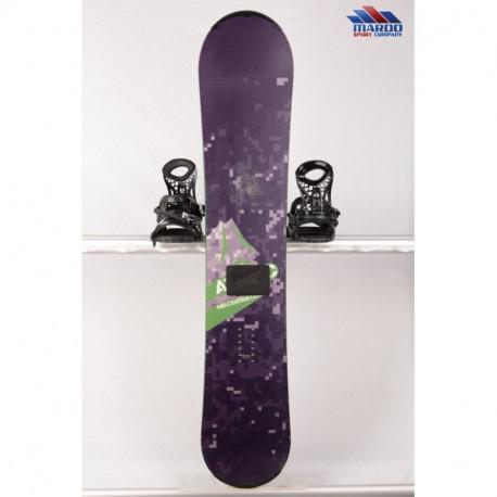 snowboard ATOMIC PIQ BLACK/green, woodcore, sidewall, CAMBER