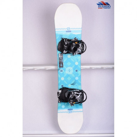 dámsky snowboard SALOMON LIBERTY UNITE, WHITE/blue, WOODCORE, sidewall, ROCKER ( TOP stav )