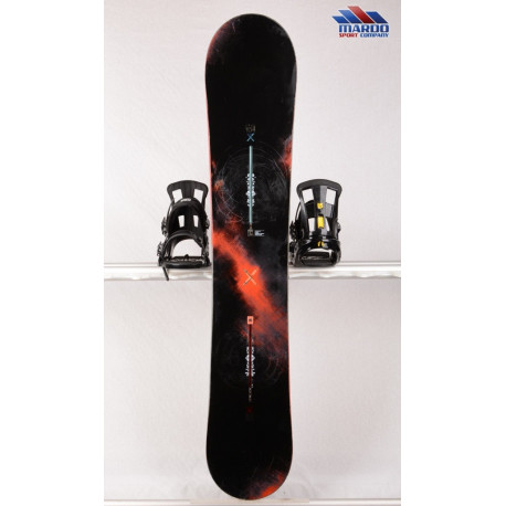 Snowboard BURTON CUSTOM X WIDE, BLACK/red, WOODCORE, CARBON, SIDEWALL, The channel, CAMBER ( TOP Zustand )