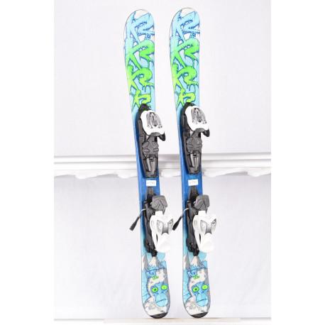 detské/juniorské lyže K2 INDY blue/green + Marker 4.5 ( TOP stav )