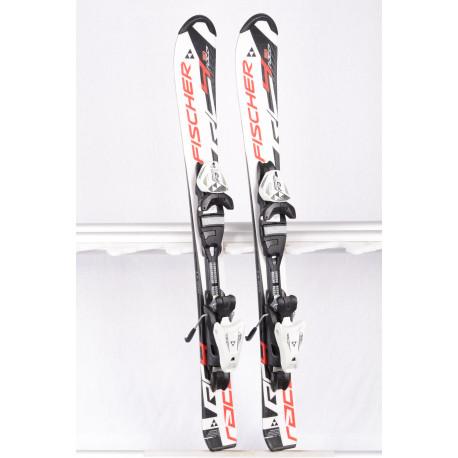 detské/juniorské lyže FISCHER RC4 RACE Jr. white/red/black + Fischer FJ4