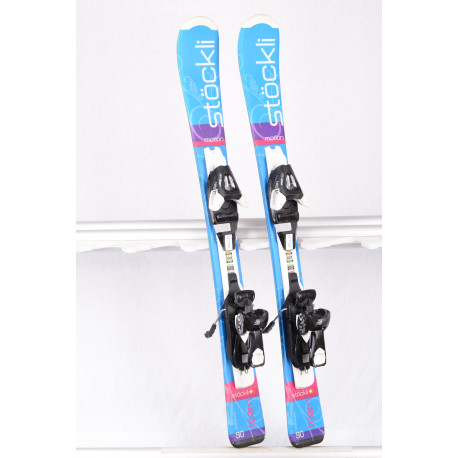 children's/junior skis STOCKLI TEAM MOTION blue + Atomic Ezytrak 5 ( TOP condition )