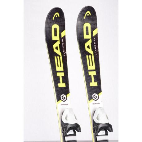 children's/junior skis HEAD WC i.RACE TEAM, GRAPHENE black/yellow + Head 7.5
