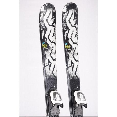 detské/juniorské lyže K2 INDY black/white + Marker 7.0 ( TOP stav )