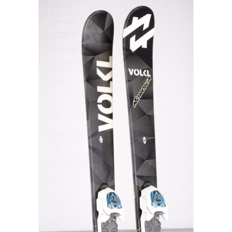 children's/junior skis VOLKL WALL Jr. FREESTYLE, TWINTIP + Marker 4.5 white ( TOP condition )