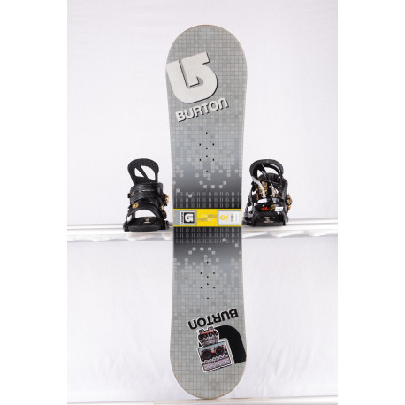 snowboard BURTON LTR BLOCK, WIDE, GREY/yellow, WOODCORE, sidewall, CAMBER/flat