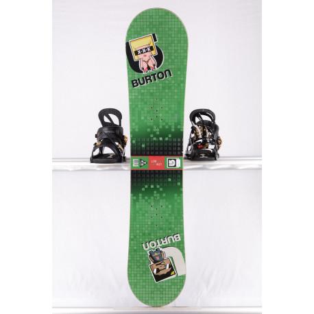 snowboard BURTON LTR BLOCK, GREEN/red, WOODCORE, sidewall, CAMBER ( en PARFAIT état )