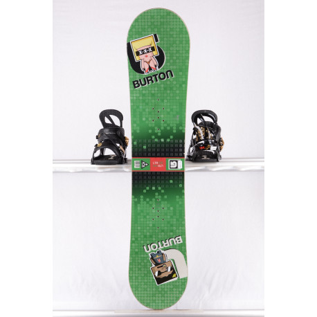 snowboard BURTON LTR BLOCK, GREEN/red, WOODCORE, sidewall, CAMBER ( TOP stav )