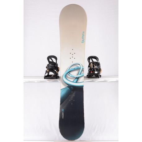 snowboard BURTON CRUZER, WHITE/blue, woodcore, sidewall, CAMBER