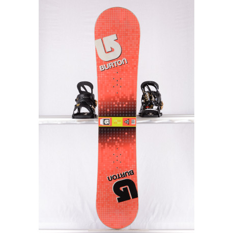 snowboard BURTON LTR BLOCK, RED/yellow, WOODCORE, sidewall, CAMBER