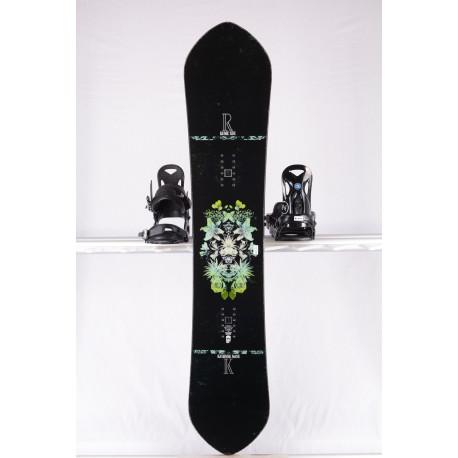 women's snowboard ROME SDS KASHMIR, BLACK /green, WOODCORE, carbon, sidewall, FLAT