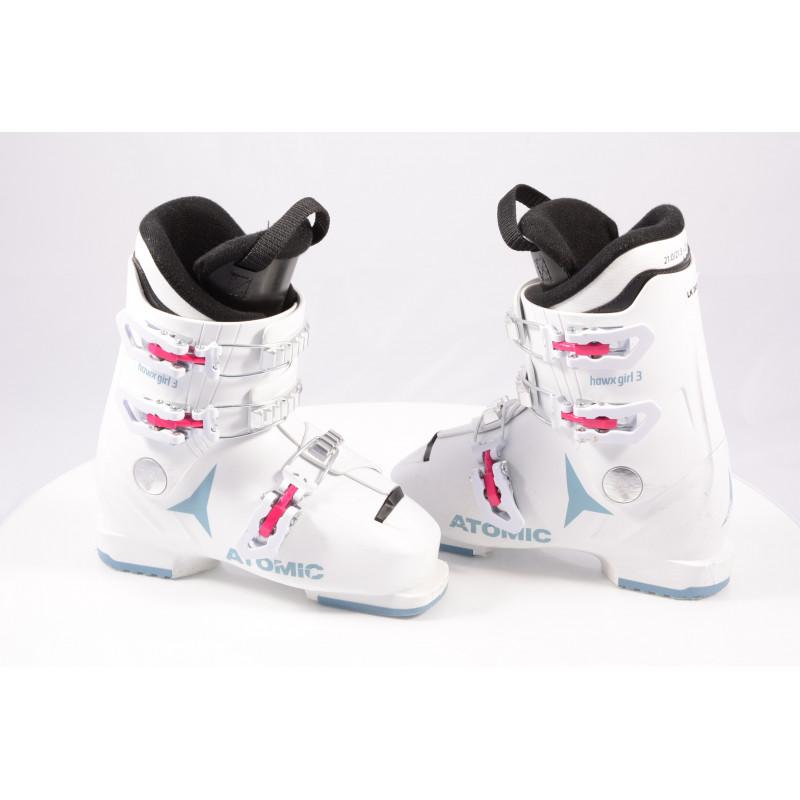 detské/juniorské lyžiarky ATOMIC HAWX GIRL 3, 2020, WHITE/denim blue, macro ( TOP stav )