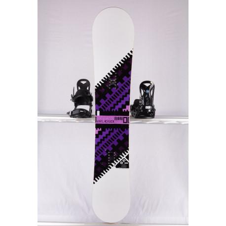 women's snowboard ROME SDS VINYL ROCKER, WHITE/purple, WOODCORE, CARBON, sidewall, FLAT/rocker