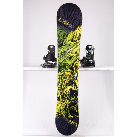 snowboard LIB TECH SKATE BANANA BTX, BLACK/yellow, WOODCORE, sidewall, HYBRID/rocker