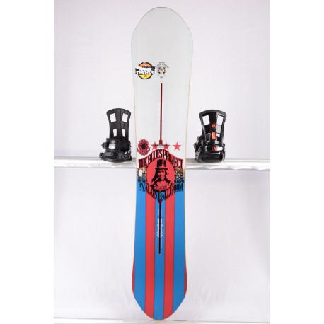 snowboard BURTON EASY LIVIN RESTRICTED, FLYING V, WHITE/blue, WOODCORE, sidewall, The channel, HYBRID/rocker ( TOP-tillstånd )