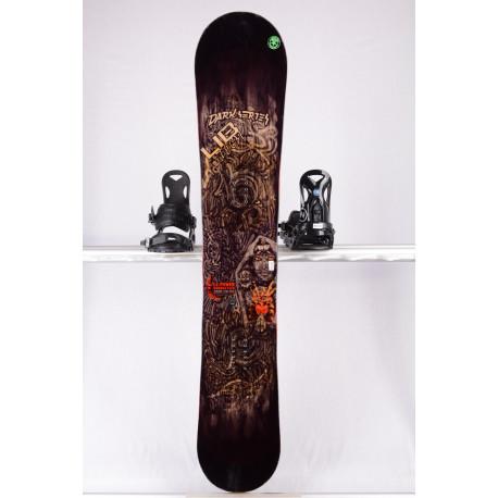 snowboard LIB TECH DARK SERIES C2 BTX, BLACK/brown, WOODCORE, sidewall, HYBRID/rocker