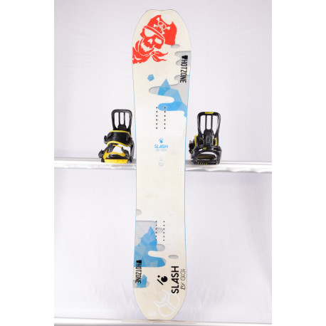 snowboard SLASH BY GIGI ATV, WHITE/BLUE, WOODCORE, sidewall, CAMBER
