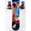 snowboard LIB TECH SKATE BANANA BTX, BLACK/red, WOODCORE, sidewall, HYBRID/rocker