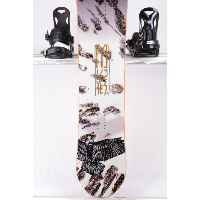 snowboard YES PICK YOUR LINE, WHITE/black, WOODCORE, sidewall, HYBRID/camber