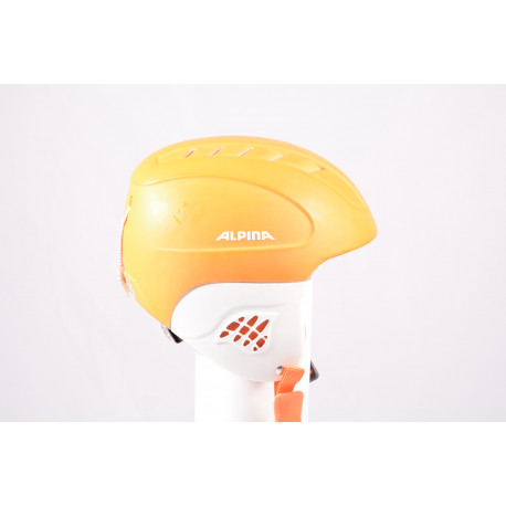 lyžiarska/snowboardová helma ALPINA CARAT LE, orange/white, einstellbar ( TOP stav )