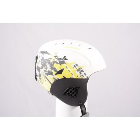 lyžiarska/snowboardová helma ALPINA CARAT LE, white/yellow, einstellbar ( TOP stav )