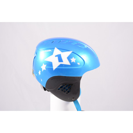 lyžiarska/snowboardová helma ALPINA CARAT STAR, blue/white, einstellbar ( TOP stav )