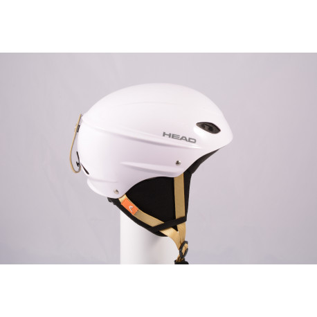 lyžiarska/snowboardová helma HEAD 2020 WHITE/brown, einstellbar ( TOP stav )