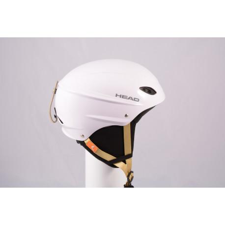 ski/snowboard helmet HEAD 2020 WHITE/brown, adjustable ( TOP condition )