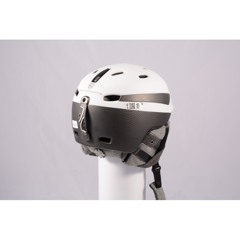lyžiarska/snowboardová helma PRET EFFECT GRENZWERTIG 2019, WHITE/grey, Air ventilation, einstellbar ( TOP stav )