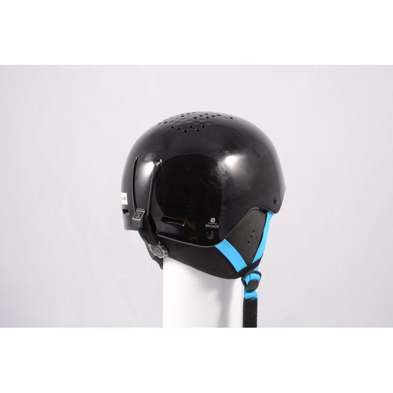 lyžiarska/snowboardová helma SALOMON BRIGADE 2020, Black/blue, einstellbar ( ako NOVÁ )