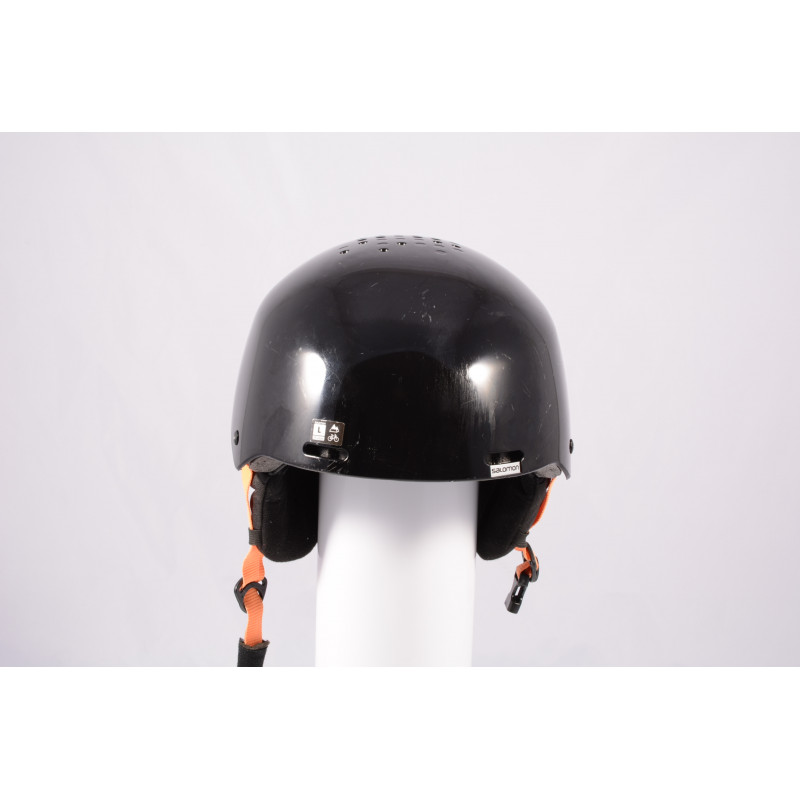 lyžiarska/snowboardová helma SALOMON BRIGADE 2020, Black/orange, einstellbar ( TOP stav )