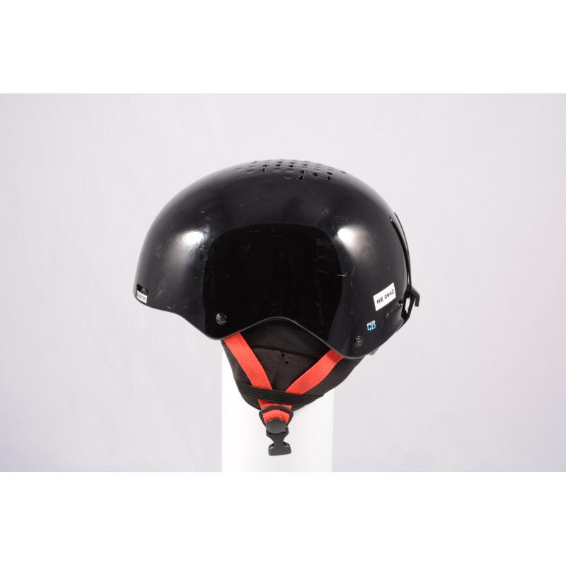 lyžiarska/snowboardová helma SALOMON BRIGADE 2020, Black/red, einstellbar ( TOP stav )