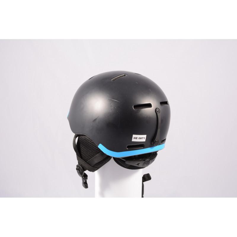 ski/snowboard helmet SALOMON GROM BLACK 2020, Black/blue, adjustable ( TOP condition )