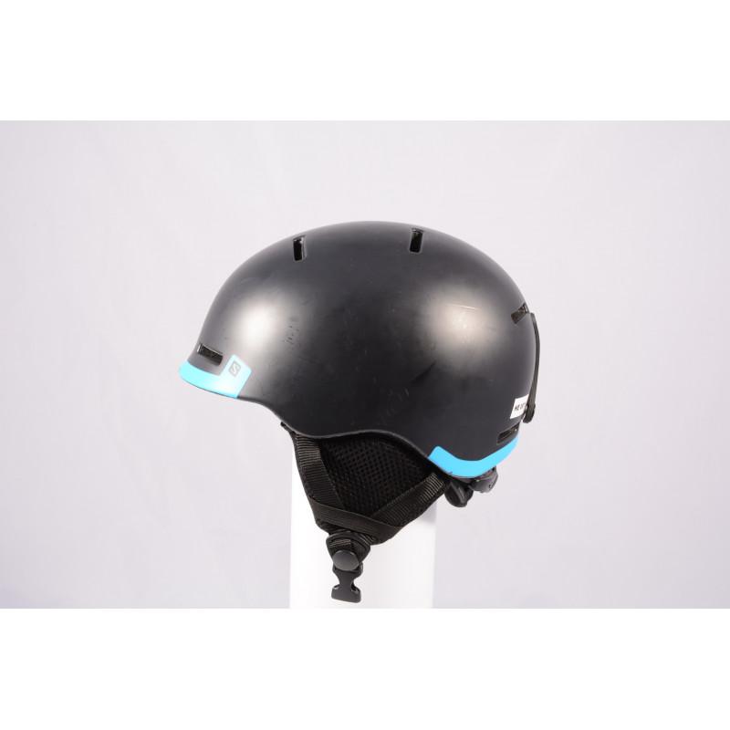 lyžiarska/snowboardová helma SALOMON GROM BLACK 2020, Black/blue, einstellbar ( TOP stav )