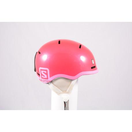 ski/snowboard helmet SALOMON GROM GLOSSY 2020, Pink, adjustable ( TOP condition )
