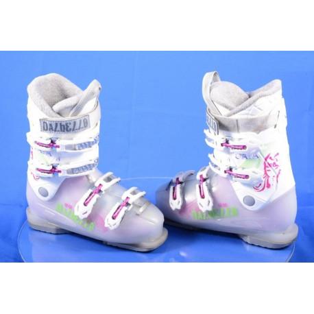 detské/juniorské lyžiarky DALBELLO GAIA 4, pink/white buckles, macro