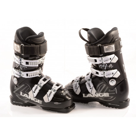 women's ski boots LANGE RX 90 RTL, BLACK/white, WARM inside, FLEX adj. ULTIMATE control