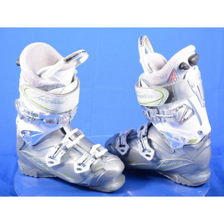 women's ski boots TECNICA PHNX 8 MAX SR AIR grey/white, AIR TECHNOLOGY, QUADRA tech, ULTRA fit, micro, macro