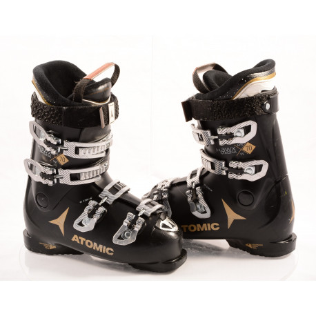 dámske lyžiarky ATOMIC HAWX MAGNA R70 W, BLACK/gold, ATOMIC bronze, EZ-STEP in, micro, macro ( TOP stav )