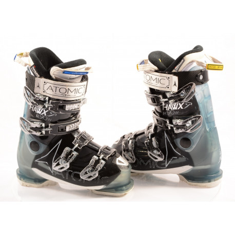 chaussures ski femme ATOMIC HAWX R90 W, ATOMIC silver T1, 3M THINSULATE, MEMORY fit, BLACK/blue ( en PARFAIT état )
