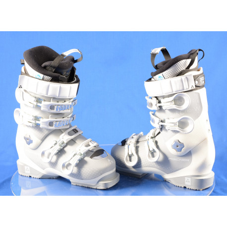 botas esquí mujer FISCHER RC PRO 80 W XTR white, THERMOSHAPE, SANITIZED, AFZ, DRY shield, 2K power chassis
