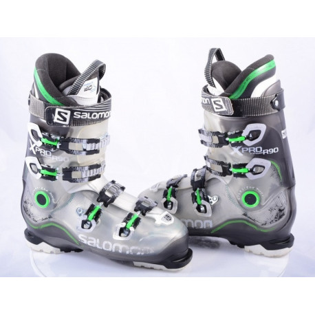 ski boots SALOMON X PRO R90, energyzer 90, oversized pivot, my custom fit 3D, TRANSP/green