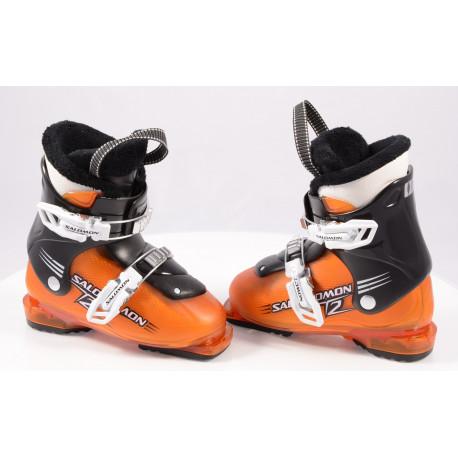 children's/junior ski boots SALOMON TEAM T2 Orange, Ratchet buckle