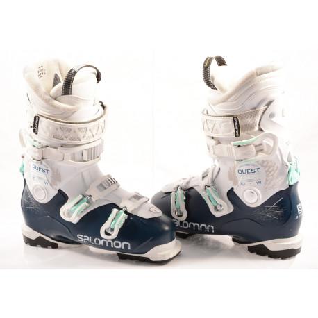 chaussures ski femme SALOMON QST ACCESS R70 W, dark blue/white, SKI/WALK, MY CUSTOM FIT , RATCHET buckle, ( en PARFAIT état )