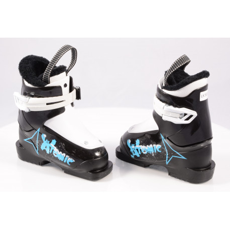 children's/junior ski boots ATOMIC YETI, BLACK/white ( TOP condition )