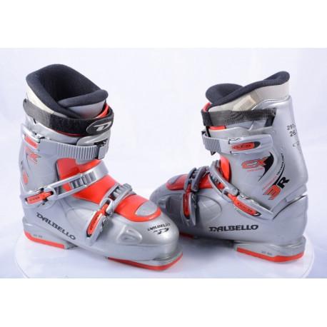 children's/junior ski boots DALBELLO CX EQUIPE 3R, centriflex technology, grey/red