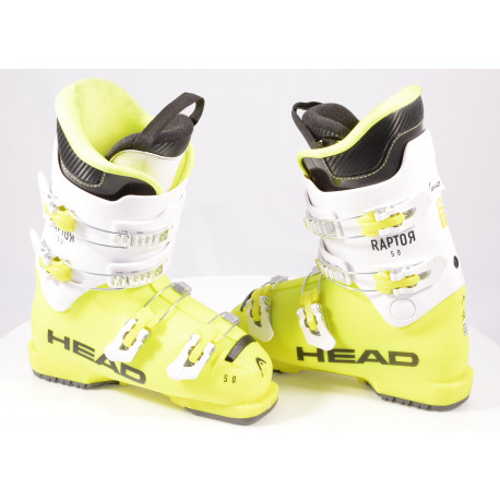 children's/junior ski boots HEAD RAPTOR 50 HT, 2019, YELLOW/white, macro